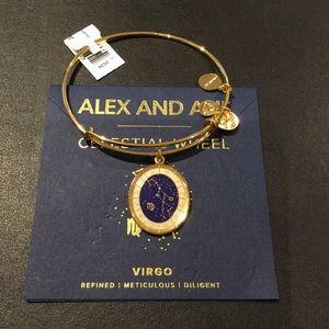 Alex and Ani Virgo Celestial Wheel Gold Bangle